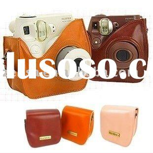 Fujifilm Mini7s Pink Brown Instant Polaroid Film Camera Case Bag Fujifilm Instax 7s