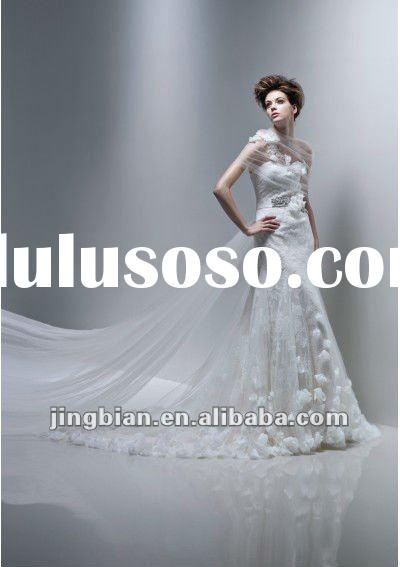 Gorgeous Flower Ball Gown Couture Vintage Gown 2012 Newly Design Bridal Wedding Dress YF040
