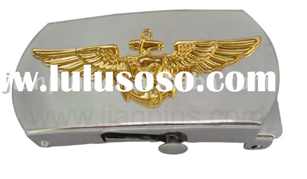 High Quality Military Belt Buckle with Two Tone Plated
