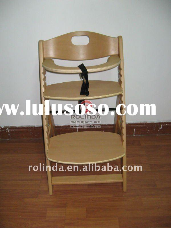 High Quality Wooden Baby Eating Chair