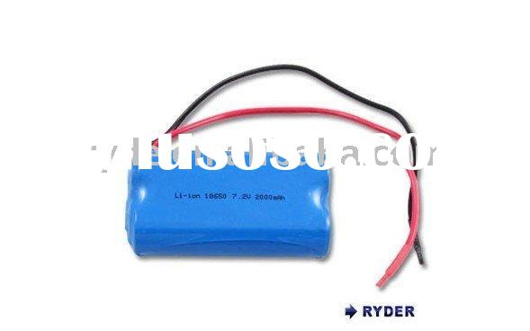 High quality 7.2V Li-ion rechargeable battery pack, for bike lighting RC toys