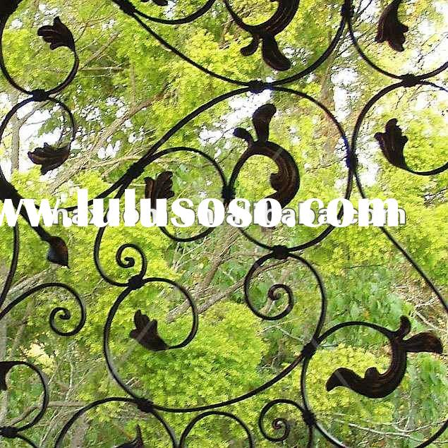 Home decorative OEM wrought iron window screen