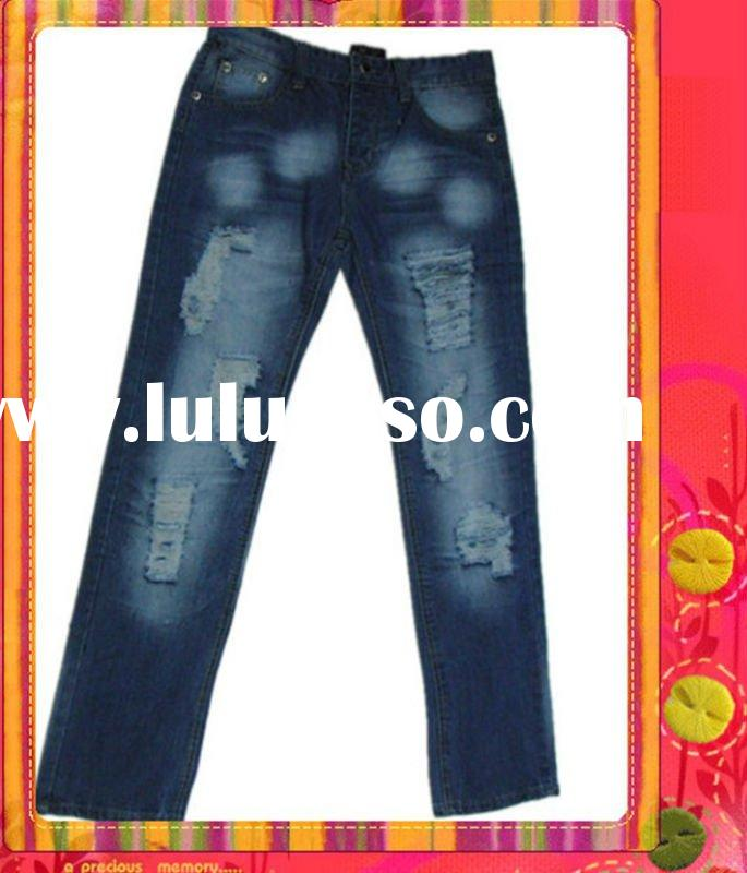 Hot sale new design men's fashion denim jeans