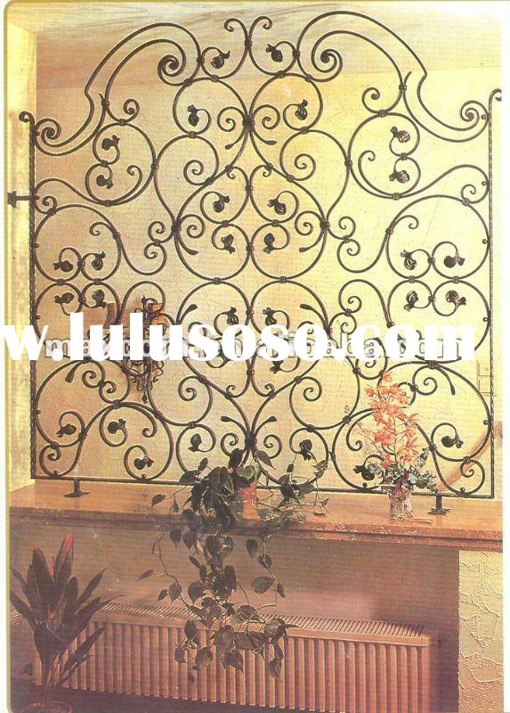 Hotel decorative OEM wrought iron divider