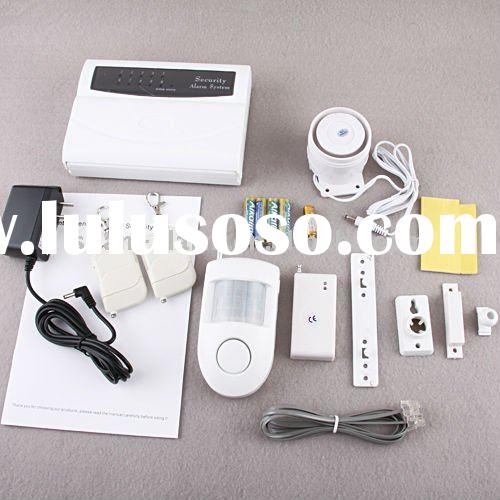 Intelligent Simple Wireless/wired telephone alarm system with LED auto dialing