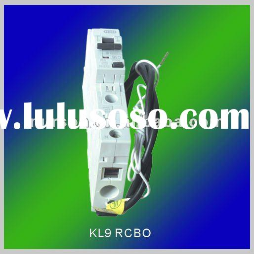 KL9 Residual current circuit breaker(RCBO)/rccb/earth leakage circuit breaker
