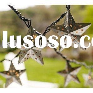 Metal Star Holiday String Lights
