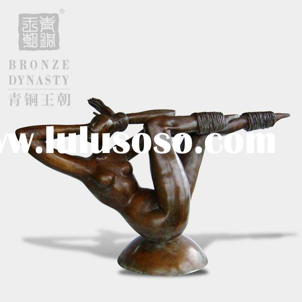 Modern dancing girl bronze sculpture