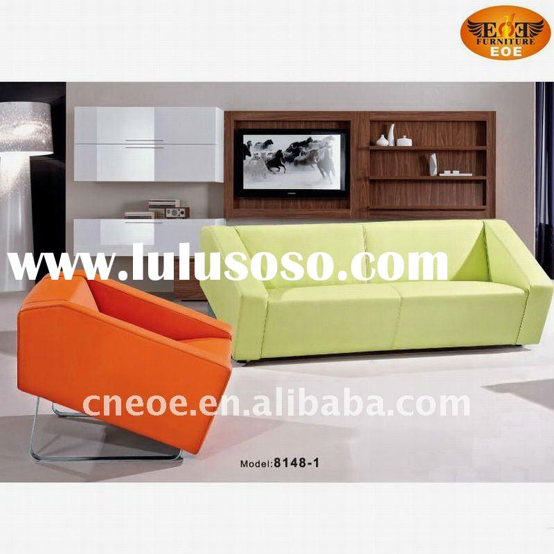 Modern leather leisure sofa set item 8148-1