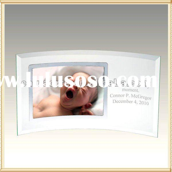 Personalized Optical Glass Photo Frame Souvenirs With Baby Photo For Home Decoration