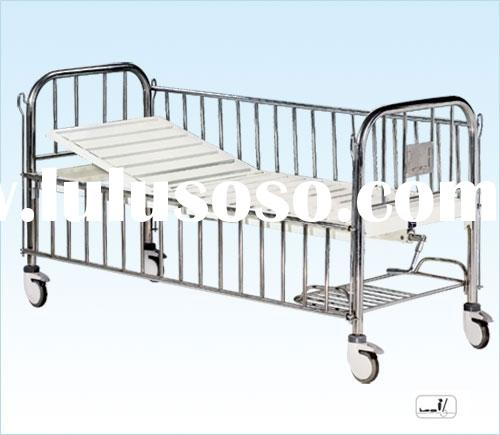 Semi-fowler child bed with stainless steel head/foot board&side rails B-35 infant bed