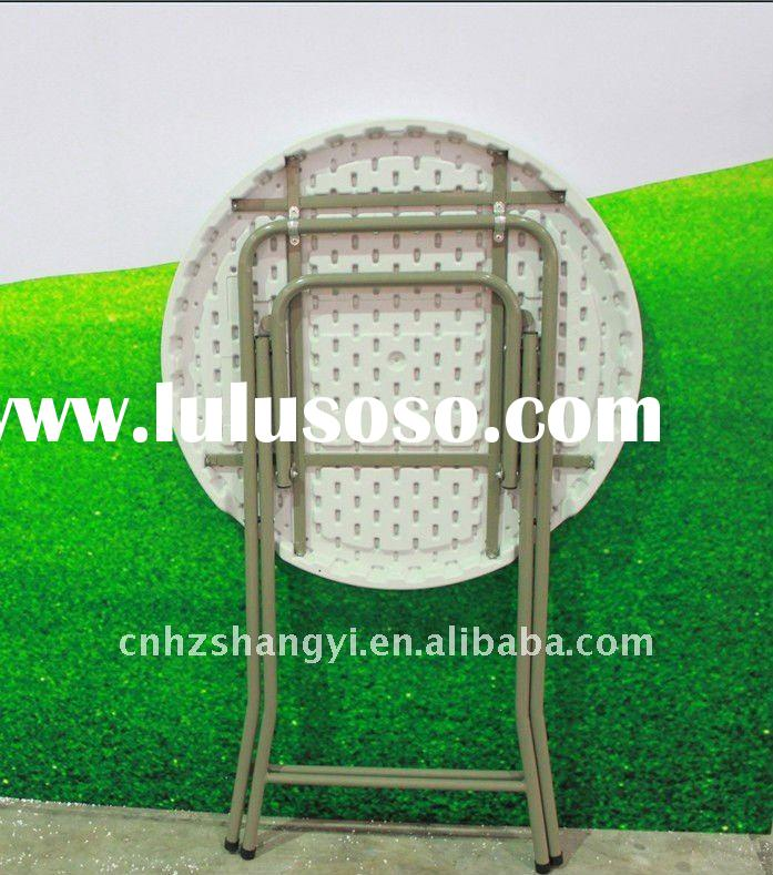 Small plastic folding round bar table