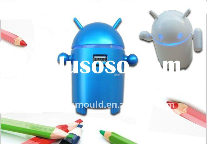Small portable android robot mini speaker with TF USB facilities portable