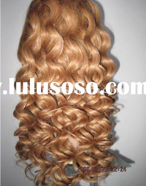 Stock!! European curl honey blonde human hair full lace wig