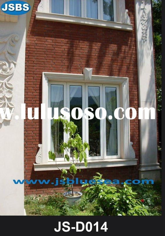 White marble exterior window sill