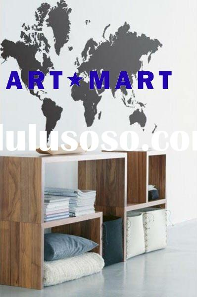 World Map - Vinyl Wall Decals, Vinyl Home Decor, Vinyl Wall Stickers NO.071