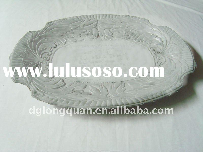aluminum die casting oval-shaped metal fruit tray