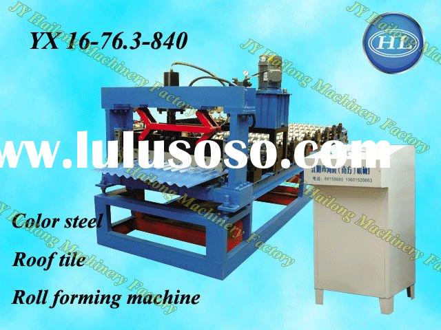 automatic 840 corrugated color steel/metal roof tile roll forming machine suppliers/manufacturers Ch