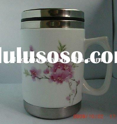 ceramic thermal mug,porcelain travel mug,stainless steel mug,promotional mug,insulated cup(FDA,SGS,C