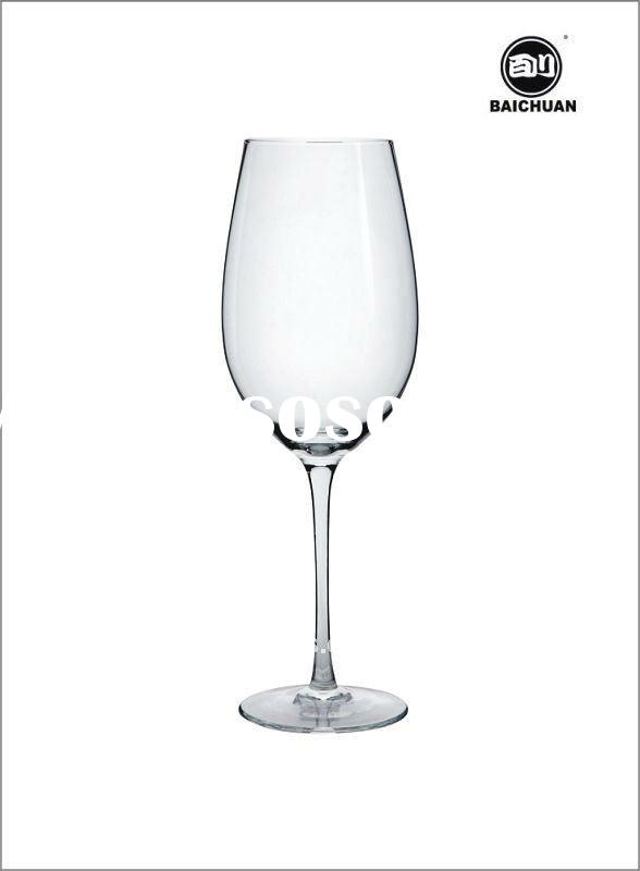 clear lead free crystal black wine glass for wedding