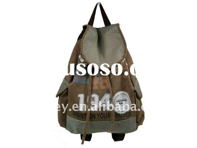 elegant canvas backpack,sports bag,promotion school bag