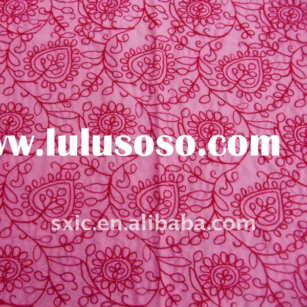 fabric embroidery/printed embroidery cotton fabric/cotton flower embroidery fabric