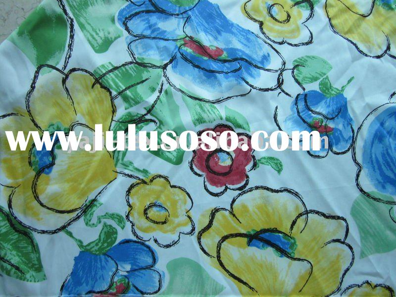 floral printed shining satin fabric for boxer shorts