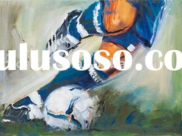 hand painted modern wall art painting(football)