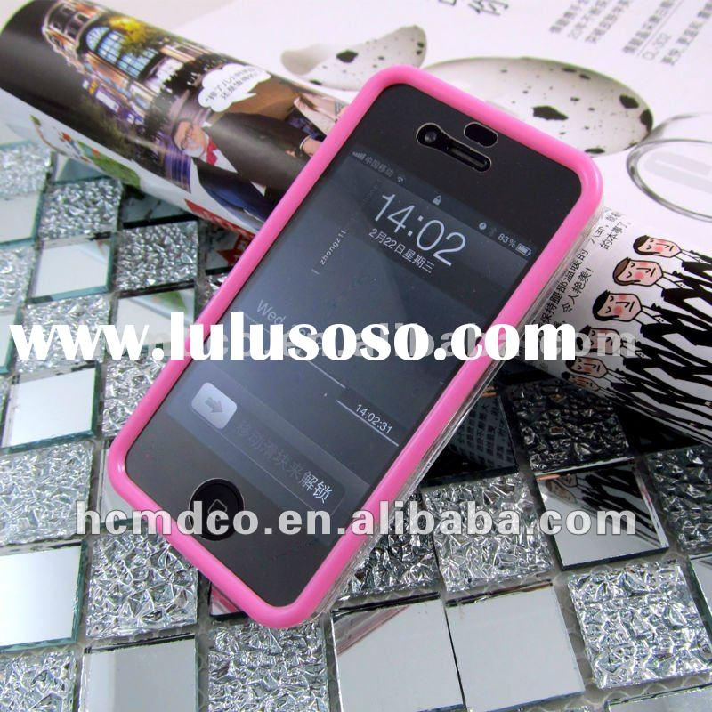 hard crystal pink edge cover case for iphone4/4s cell phone case