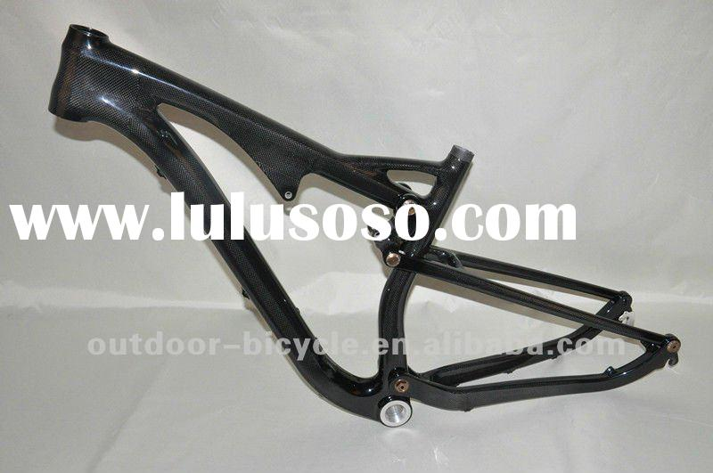 new design 2012 carbon fiber bicycle frames,full carbon mountain bicycle frame, full carbon suspensi