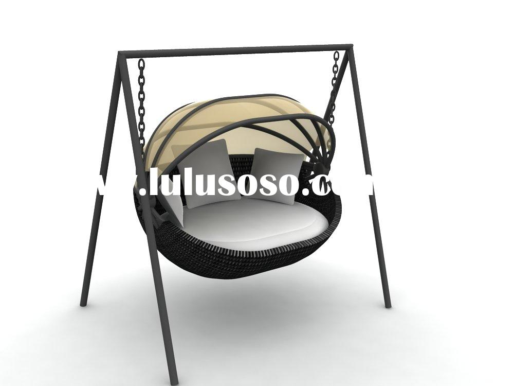 Outdoor Garden Rattan Hammock Or Patio Wicker Swing Bed