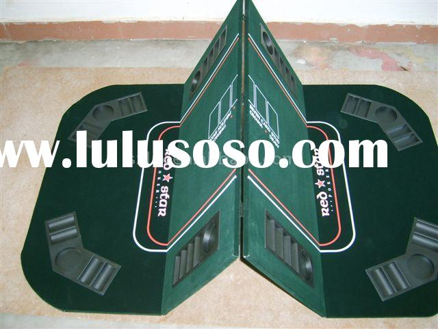 oval folding Poker table top with mahjong holder