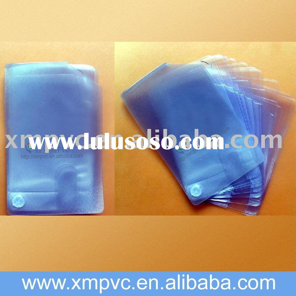 plastic bank card bag also for business cards,ID cards D-CC080
