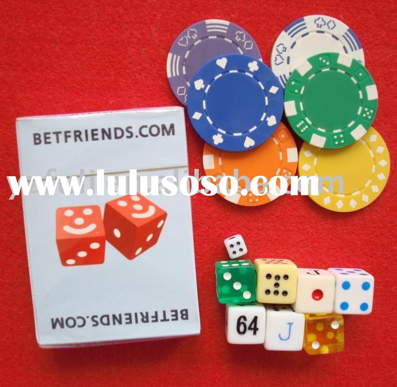 playing card/poker set/dice/chip/cup