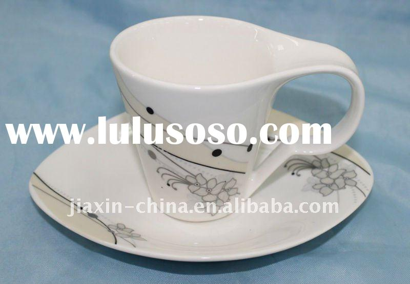 porcelain tea set, coffee cup and saucer