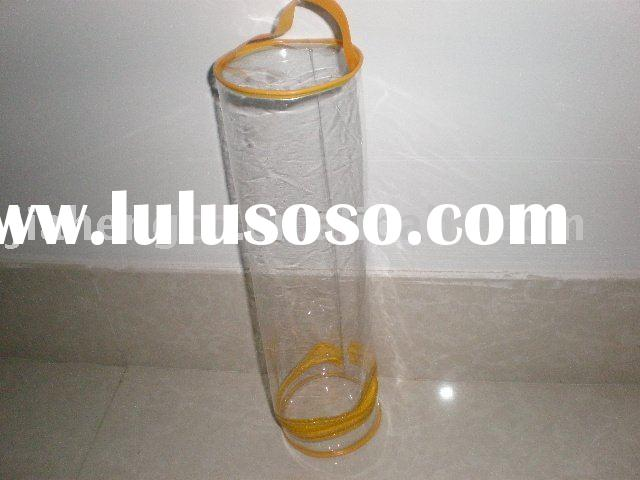round-shape PVC wholesale gift bag with zipper