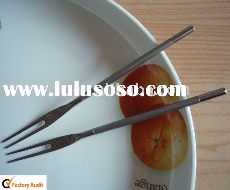 stainless steel small Fruit fork,dessert Cake fork,two-prong fork -S046