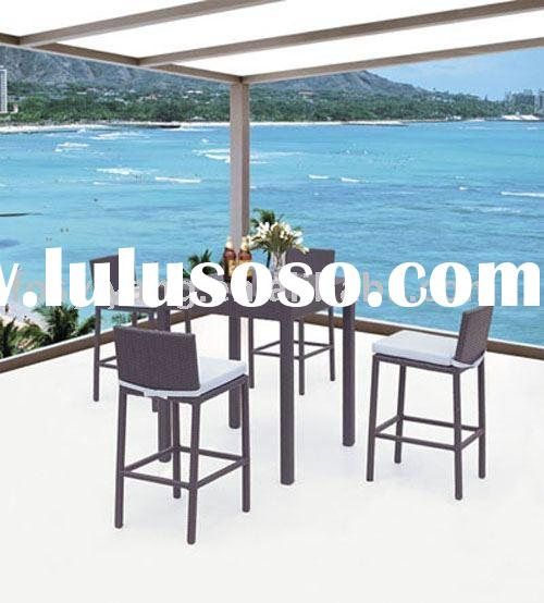 supply bar furniture/Rattan bar stools & table
