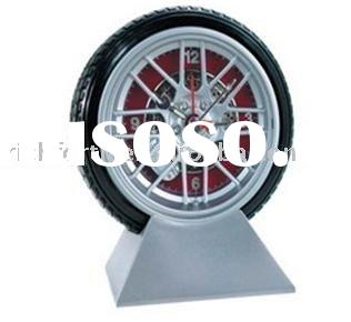 tire desk clock,alarm clock,promotional clock,tire clock,novelty clock,tire alarm clock,quartz clock