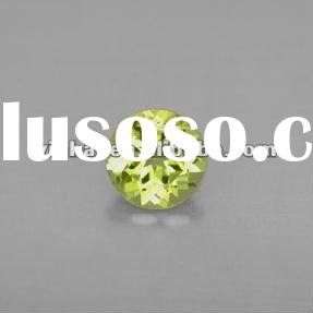 top CZ diamond, apple green round diamond cut cubic zirconia gems, AAAA zirconia stones