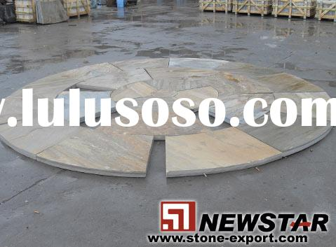 yellow sandstone pavers, curved sandstone tiles, sand stone wall cladding,sandstone garden tiles