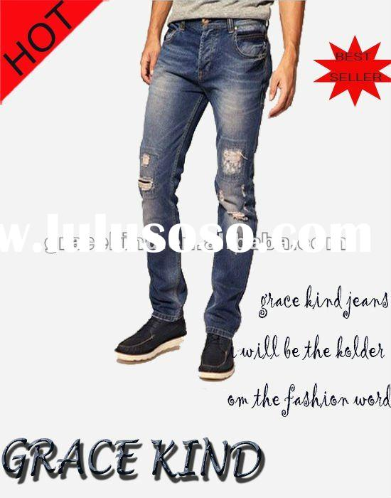 100%Cotton Blue Men Jeans Sales(GK332#)