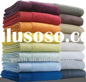 100% Cotton Plain Dyed Bath Towel With Border