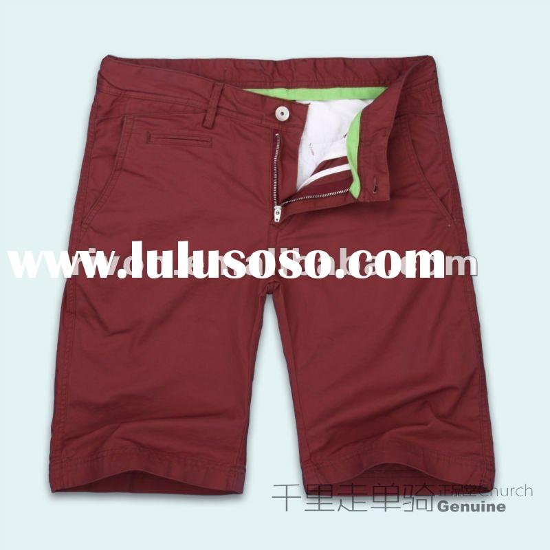 100% cotton Business Casual fashion short pants for men 2012