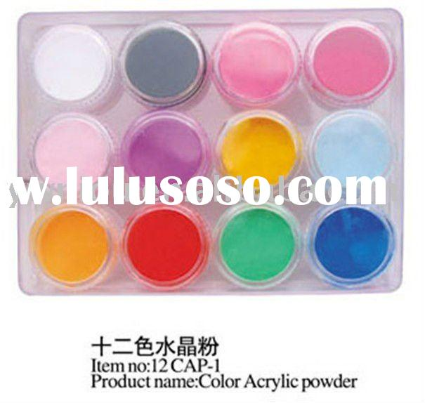 12 Solid Color Acrylic Additive Glitter Dust Powder