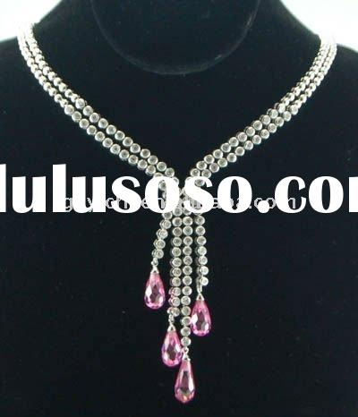 2011 Elegant Pink Diamond Indian Style Necklace/Chinese Brand
