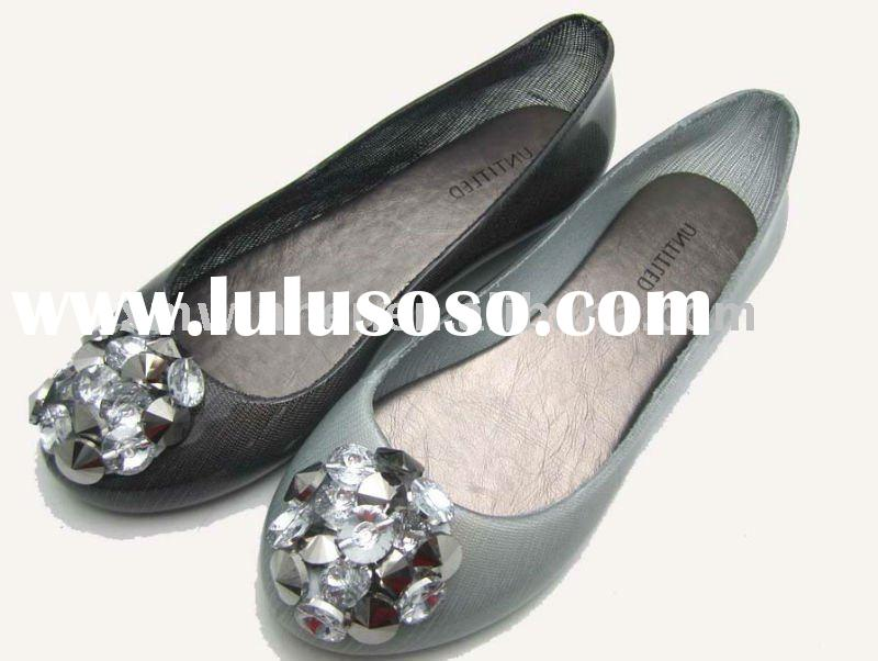 2011 New Fashion Summer Ladies Flat Jelly Plastic Shoes