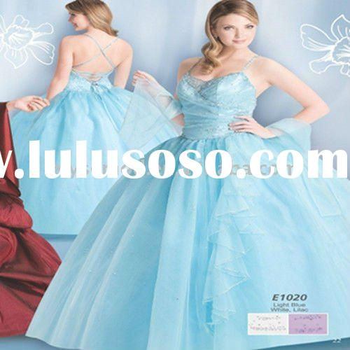 2011 Newly Arriving Spaghetti Straps Ball Gown Backless Quinceanera Dress