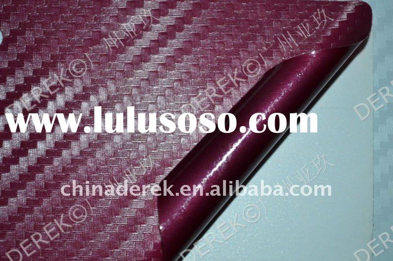 2011 TOP Quality! automotive vinyl film 3D Carbon Fiber Film QD1107 Claret-Red TR1 1.27mx30m
