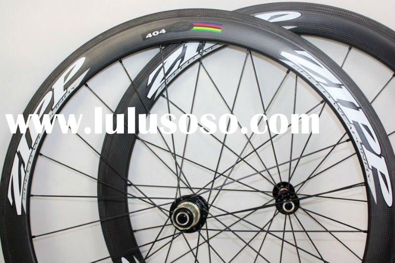 2011 free shipping Zipp 404 carbon Wheelset C-50 clincher 3K weave wheels 50mm